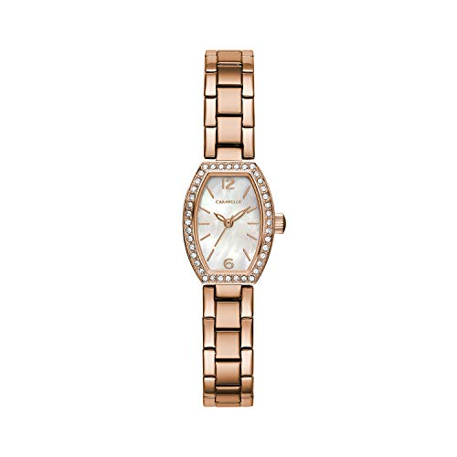 Caravelle orologio al quarzo in acciaio INOX da donna, color rosa gold-toned (Model: 44L242)