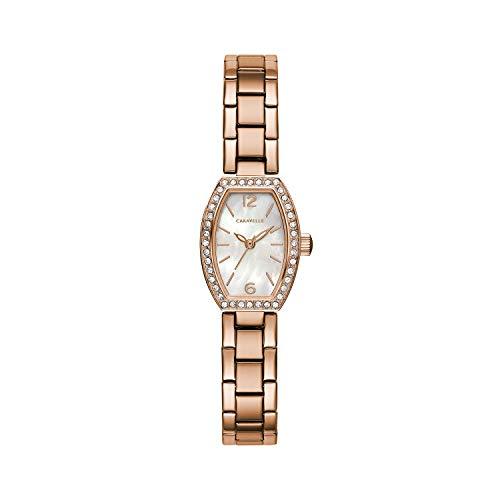 Caravelle - Reloj de Cuarzo para Mujer, Acero Inoxidable, Color Oro Rosa (Modelo: 44L242)