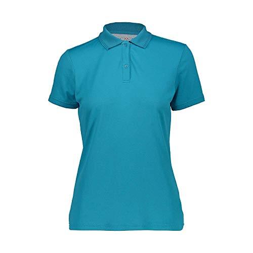 CMP Haut Polo Haut Femme Polo Blau Respirant Antibactérien Protection Anti-UV - L609 Curaçao, 38