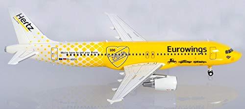 Eurowings Airbus A320 Hertz 100 Jahre in Miniatur zum Basteln Sammeln und als Geschenk