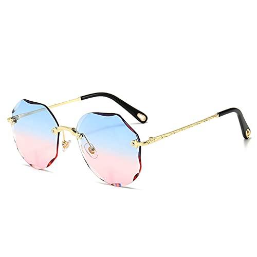 MIAOYO Vintage Moda Gran Rimless Gafas De Sol,Mujeres Famoso Lujo Marca Diseño Sexy Diamante Sol Cuadrado Gafas para Las Mujeres,D