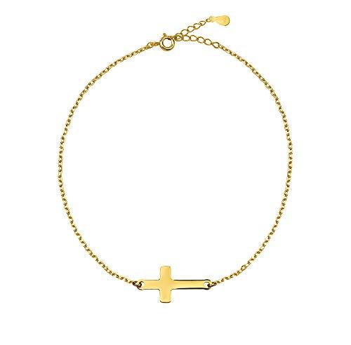 SOFIA MILANI Damen-Armband Kreuz Anhänger 925 Silber 30133