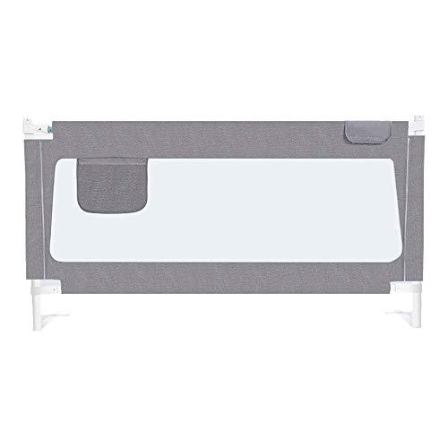 Barrières de lit LHA Baffle de Levage à Une Main pour lit de Protection Anti-Chute pour bébé, 1,5-2 m, Universel (Couleur : Gray, Taille : L-200cm)