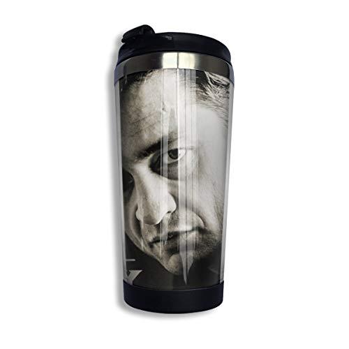 N/A NA Johnny Cash Isolierte Kaffeebecher Kaffeetasse Aus Edelstahl Für Kaffee Tee Und Bier Isolierter Reisebecher