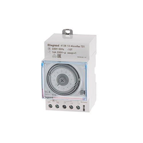 Legrand 003752 Microrex T31 - Interruptor horario programable (230 V, 50 Hz)