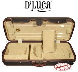 D'Luca CP05M-BDB Heavy Duty Oblong Violin Case - Black/Beige, 4/4