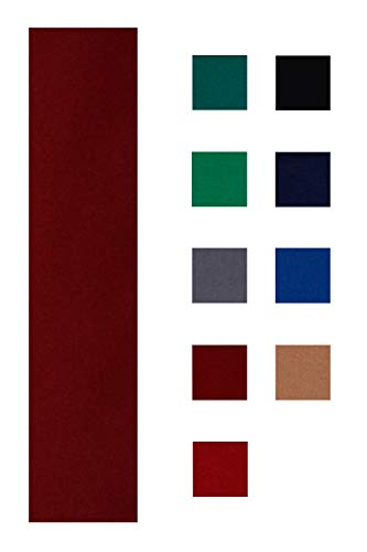 Accuplay 20 oz Pre Cut Pool Table Felt - Billiard Cloth Burgundy for 8' Table (Burgundy, for 8' Table)