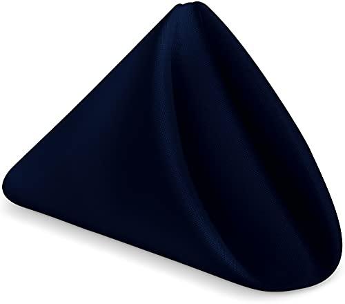 KICHLY Servilletas de Tela Azul Marino - Paquete de 24 (43 x 43 cm), Suaves y cómodas - Duraderas - Ideales para Eventos y Uso doméstico