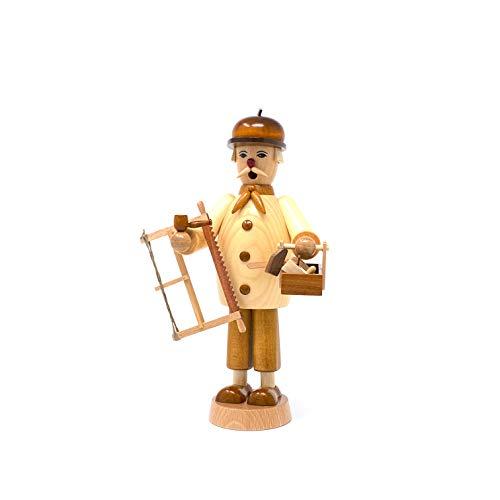 Turchslerei Friedbert Uhlig, incienso n° 018, carpintero, 25 cm de alto, torneado de madera regional, hecho a mano en los Montes Metálicos, Navidad, arte de madera, madera auténtica