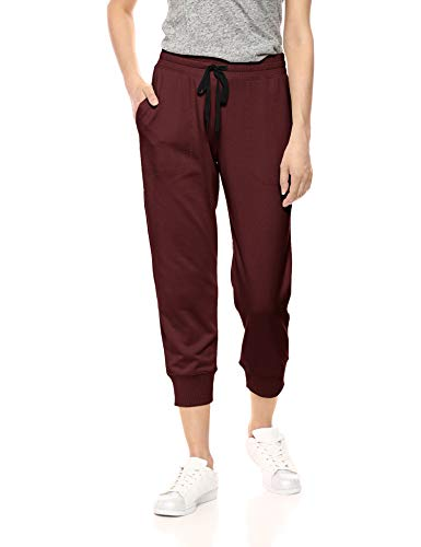 Amazon Essentials Damen-Jogginghose, Studio Terry, Capri-Hose, Windsor Wine, US S (EU S - M)