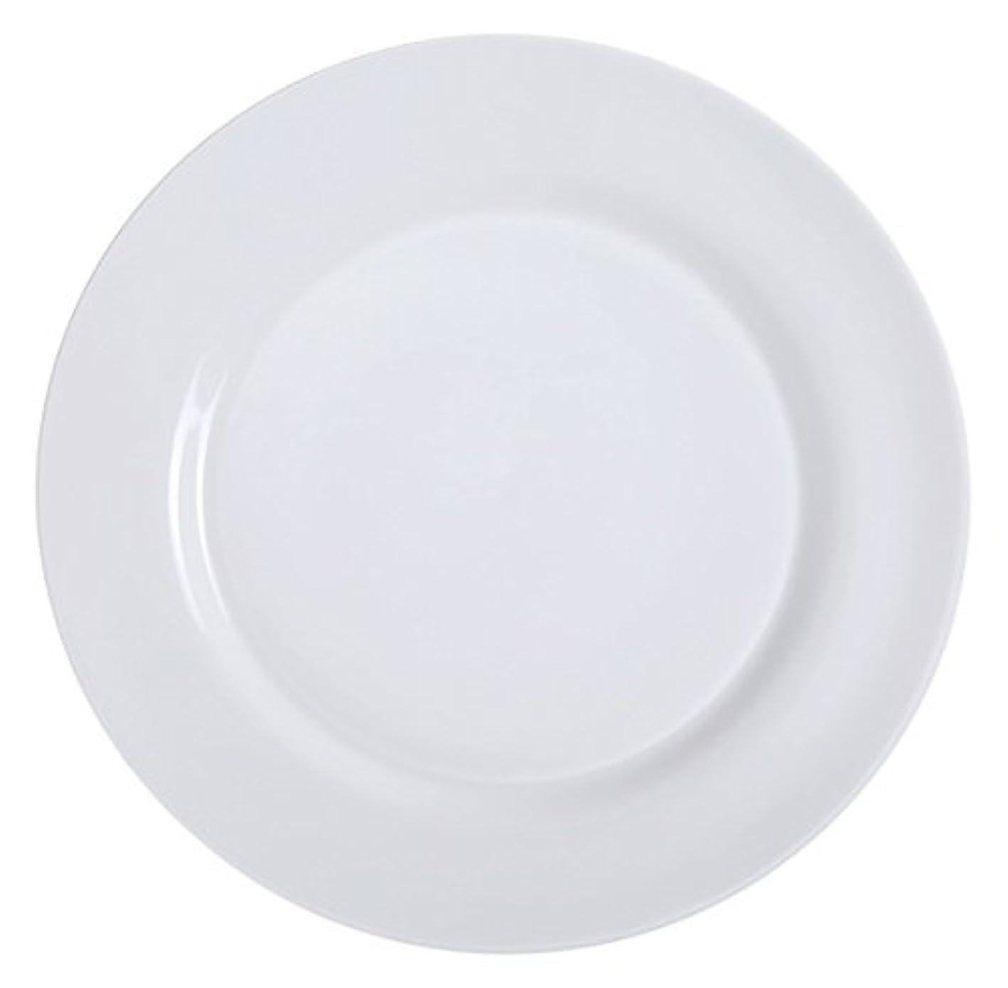 ショット火山の寄稿者Yanco PS-8 Dinner Plate 9 Diameter Porcelain Bone White Pack of 24 [並行輸入品]