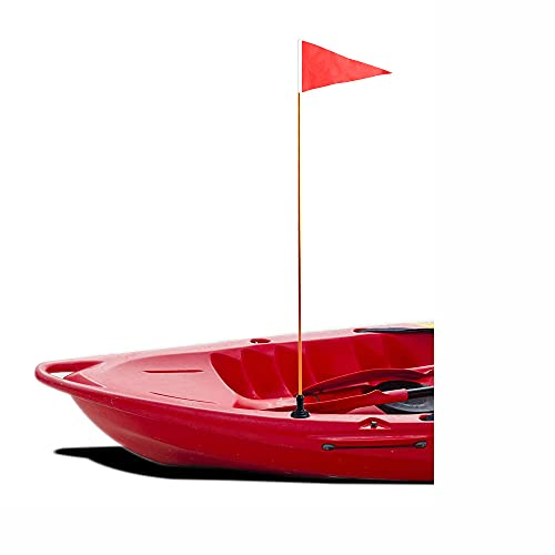RANDDER Kayak Safety Flag, Easy to Install with Rail Mount Base & Cap Cover - for Boat Canoe Yacht...