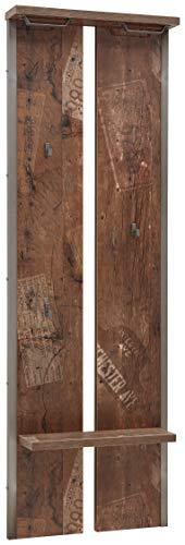 Schildmeyer Garderobenpaneel Chicago, Melaminharzbeschichtete Spanplatte, Panama Eiche, 17 x 53.5 x 161.6 cm