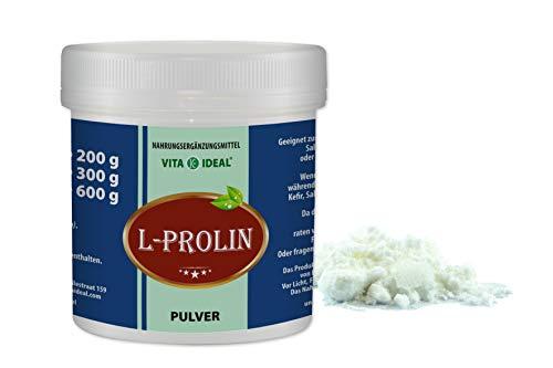 VITAIDEAL ® L-Prolin PULVER 300g (Pro, P) + Messlöffel von NEZ-Diskounter