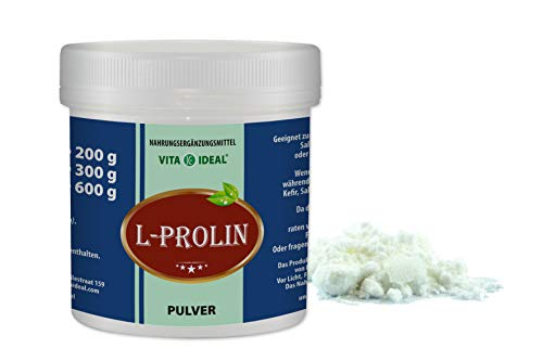 VITA IDEAL ® L-Prolin PULVER 300g (Pro, P) + Messlöffel
