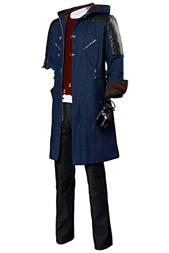 Nero Long Casual Coat Devil May Cry V Cosplay Costume Hoodie Full Outfit,X-Large