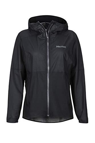 Marmot Wm's Bantamweight Jacket Veste de Pluie Hardshell, Imperméable Ultra-léger, Coupe-Vent, étanche, Respirante Femme Black FR: S (Taille Fabricant: S)