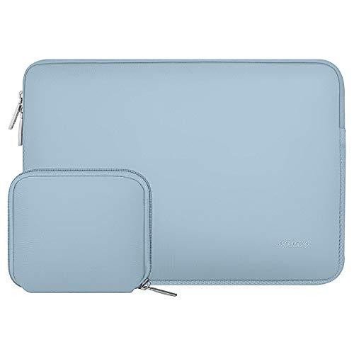 MOSISO Laptop Sleeve Kompatibel mit 15 Zoll MacBook Pro Touch Bar A1990 A1707, ThinkPad X1 Yoga, 14 Dell HP Acer, 2019 Surface Laptop 3 15, Wasserabweisend Neopren Tasche mit Klein Fall, Air Blau