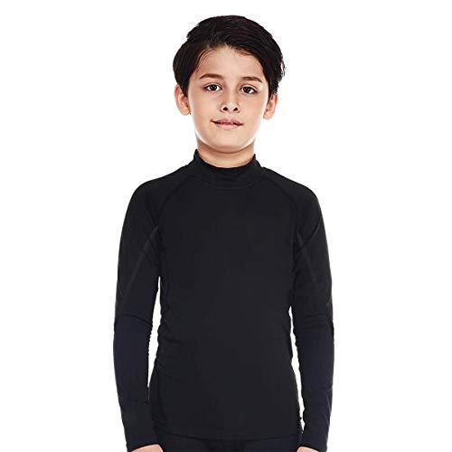 Bwiv Sportshirt Kinder Langarm Atmungsaktiv Sportunterwäsche Funktionsunterwäsche Jungen Thermounterwäsche Trainingshirt Funktionsshirt für Fußball Radsport Laufen
