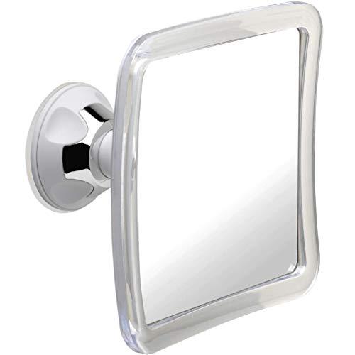 Mirrorvana Duschspiegel mit Saugnapf, Rasierspiegel Dusche - 1-Fach, 16 x 16cm