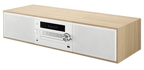 Pioneer X-CM56 HiFi-Micro-System (CD-Player, Lautsprecher, UKW Radio, Bluetooth, USB, MP3, 2 x 15 Watt) Kompaktanlage für Küche, Wohnzimmer, Schlafzimmer und Büro, Weiss
