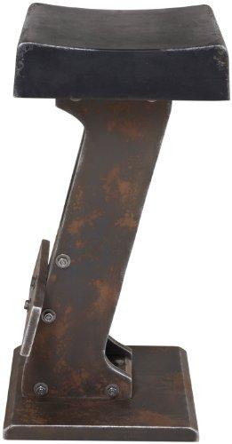 Kare Design Tabouret De Bar Style Industriel Loft Noir