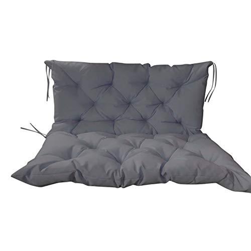 ANBEN Cojín de asiento grande para banco de jardín, impermeable, grueso y largo, funda de asiento extraíble de 2 plazas, cojín de asiento de repuesto para sofá de jardín, interior y exterior