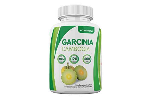 Garcinia Cambogia, 100% puro extracto de Garcinia Cambogia al 60% de HCA, 120 capsulas, supresor natural del apetito y quema grasas natural, enriquecido con Zinc y Chromo, suplemento alimenticio que favorece la perdida del peso. NOVONATUR.