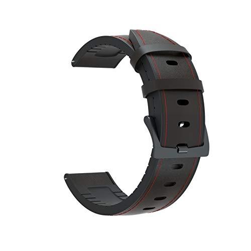 DALIANMAO Correa de Reloj de Cuero de Reloj de Reloj para Huawei 2 Banda de Pulsera de 46 mm de Pulsera de 22 mm para Huawei (Color : Black, Size : For Huawei GT)