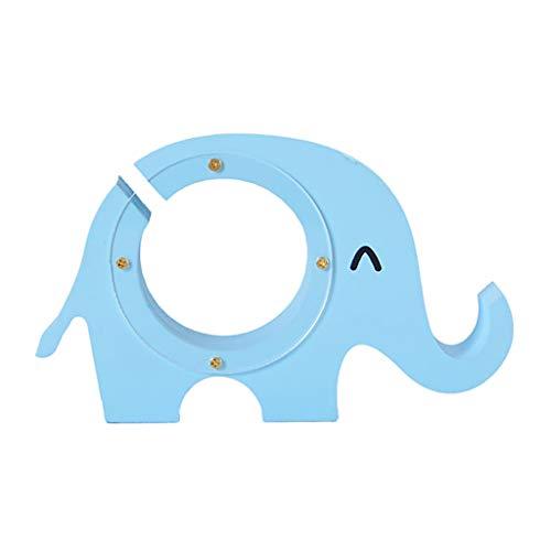 perfk Creativo Elefante de Madera Hucha de Madera Hucha Hucha ~ Azul