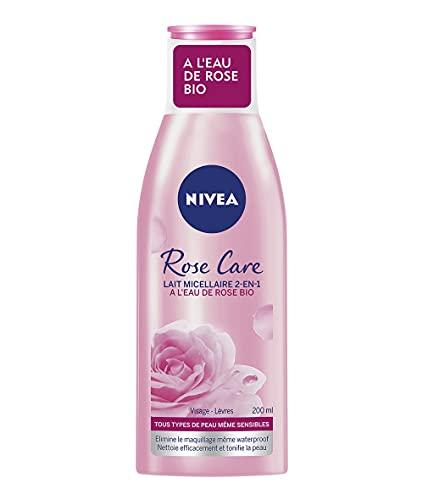NIVEA Lait micellaire 2-en-1 Rose Care (1 x 200...