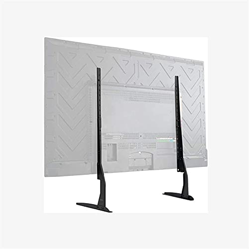 Lzpzz Soporte de TV universal para la mayoría de televisores de pantalla plana LCD de 32 a 75 pulgadas, fabricado en acero laminado en frío VESA hasta 800 x 600 mm, soporte de 45 kg, color negro