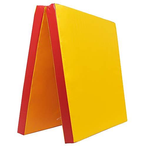 Klappbare Weichbodenmatte RG 35 | GELB - ROT | 200 x 100 x 8 cm