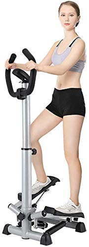 Greensen Crosstrainer Klappbar Pedal trainingsgerät Side Stepper für Zuhause Ellipsentrainer Heimtrainer Air Walker Platzsparend Fitnessgerät für Ganzkörpertraining Indoor Schwarz
