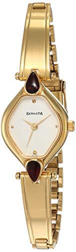 Sonata Analog White Dial Women's Watch NM8063YM05/NN8063YM05