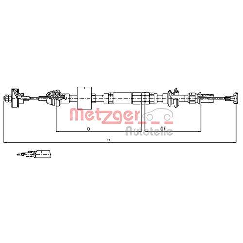 Metzger 10.3159 COFLE Seilzug, Kupplungsbetätigung