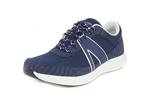 TRAQ BY ALEGRIA Qarma Womens Smart Walking Shoe Paths Navy 8 M US