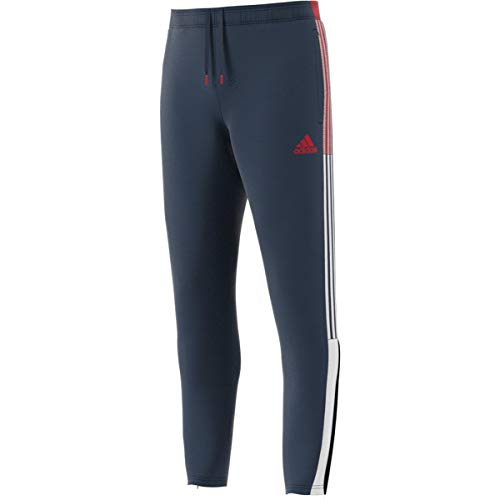 adidas Men's Standard Tiro Track Pants, Crew Navy/Vivid Red/White, Large