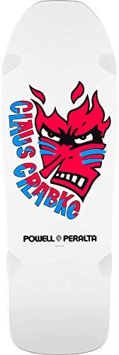 Powell-Peralta Claus Grabke Flame Face White Skateboard Deck
