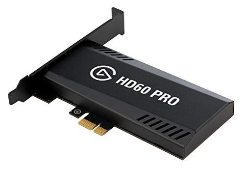 Elgato Game Capture HD60 Pro - Capturadora de juegos (Xbox 360, PlayStation o Nintendo) con una imagen a 1080p y 60 fps, tecnología de baja latencia, codificación H.264, PCIe, Negro