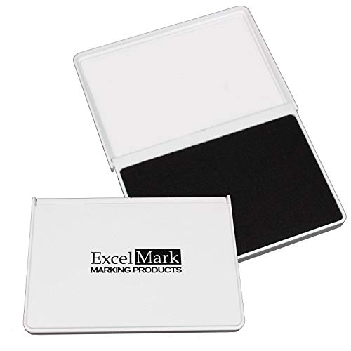 ExcelMark Ink Pad for Rubber Stamps 2-1/8' by 3-1/4' - Black