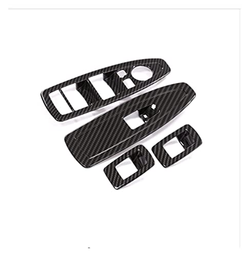 LUJING 4 unids de Estilo de Fibra de Carbono de la Ventana del Interruptor de la Ventana con Ajuste de Ajuste para BMW X1 F48 2016-2018 para BMW X2 F47 (Color Name : Carbon Fiber Style)