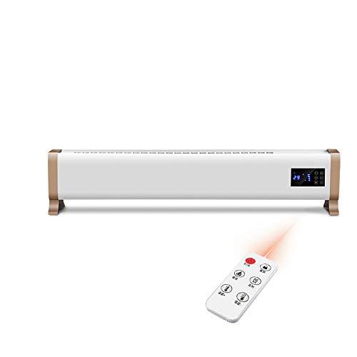 Draagbare elektrische verwarming met thermostaat, digitale timer, thermisch uitsparing, afstandsbediening, convector 1800W