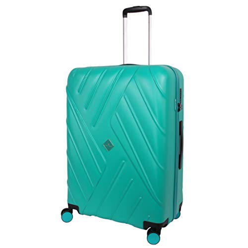 Super Lightweight ABS Hard Shell - Travel 30 Inch Suitcase by Gino Ferrari | Hard Sided Luggage with 8 Spinner Wheels | TSA Lock | 75cm 100L 4.3kg (Large, Turquoise)