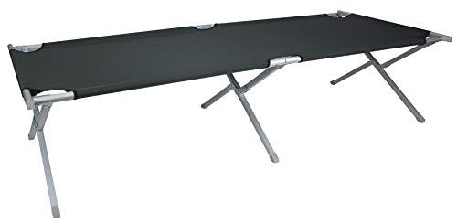 Euro Trail Cannes Aluminium Lit de camp camping chaise longue 190 x 66 x 41 cm