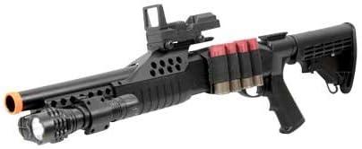 airsoft shotgun pump w shells - flashlight Airsoft Popular brand in the 70% OFF Outlet world Gu red dot