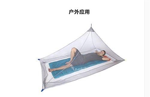 NONGSHA Voyage à l'extérieur Facile Portable Mini moustiquaires est Libre d'installer Seul Champ Double Pliage de Plafond