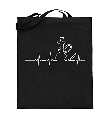 Chorchester De shisha hartslag- jute zak (met lange hengsels)