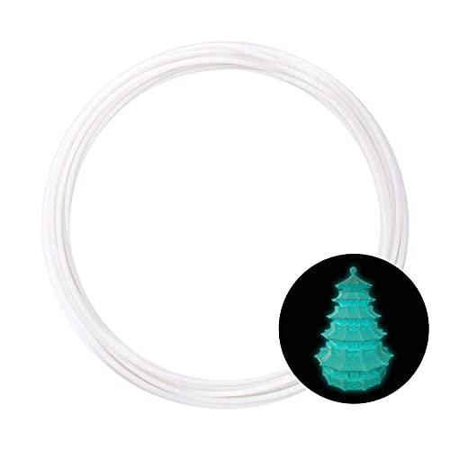 eSUN Campione di Filamento PLA Plus, Glow in the Dark Blu, Stampante 3D Filamento PLA+ 1.75mm, Rotolo da 10 Metri (32.8 Piedi) Materiali di Stampa 3D per Stampante 3D, Blu Luminoso