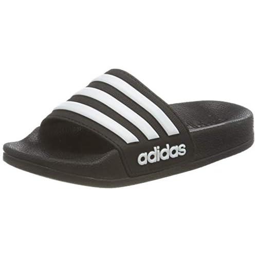 adidas Adilette Shower K, Scarpe da Ginnastica Unisex-Bambini, Nero (Negbás/Ftwbla/Negbás 000), 33 EU